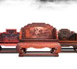 连天红中式家具展示