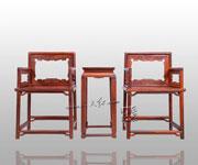 夔龙纹玫瑰椅三件套