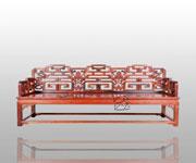 福寿纹三人椅