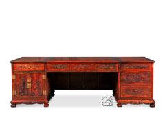山水纹办公桌