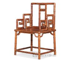 竹节纹扶手椅