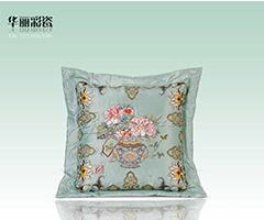 华丽彩瓷抱枕