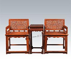 六螭捧寿纹玫瑰椅三件套