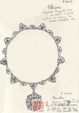 产品珠宝速写手绘图片