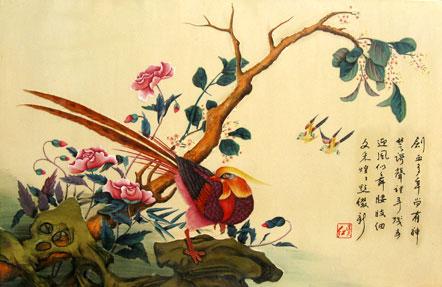 蜻蜓刺绣图样素材
