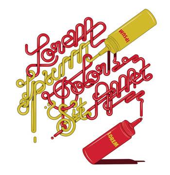 西班牙设计师亚历克字体创意招贴