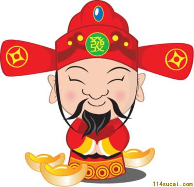 中国 灵山/财神是中国民间普遍供奉的善神之一,每逢新年,家家户户悬挂...