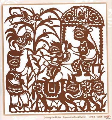 柳树剪纸画法步骤