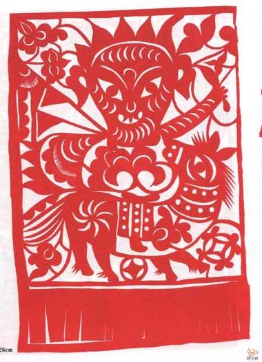 陕西民间门神文化剪纸