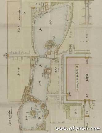 中南海老地图