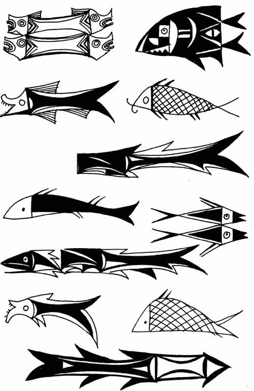 陶器上的鱼纹 (新石器时代)图片
