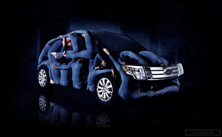 福特汽车创意广告_海报设计欣赏