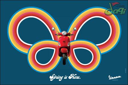 一组精美的摩托车平面广告欣赏(蝴蝶篇)