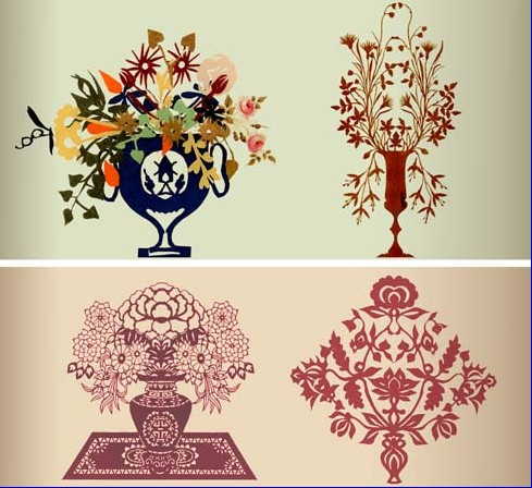 树叶剪纸—现代叶雕艺术图片