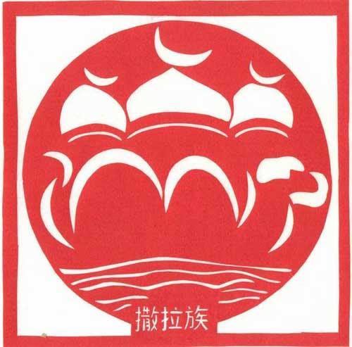 红色图腾花纹素材
