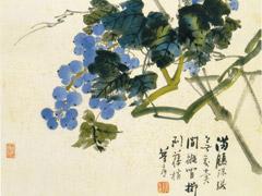 花鸟图册之画葡萄