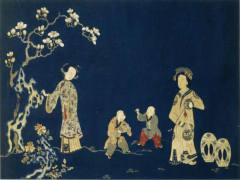 刺绣玉堂妇婴图