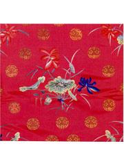 红缎绣五彩莲花圆寿字