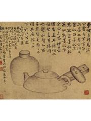 杂画册之画茶壶、茶罐