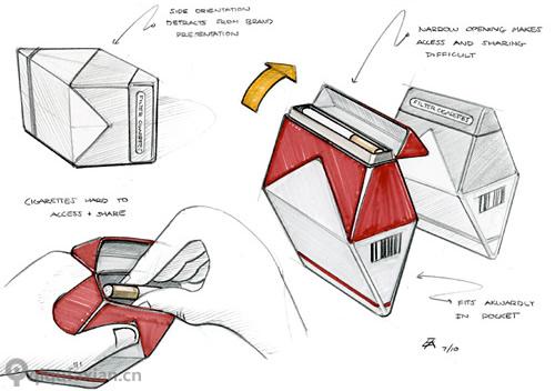 菱形包装结构展开图