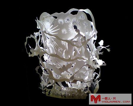 剪纸灯具 剪纸 连天红(福建)家具有限公司