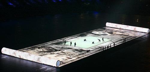 北京奥运会开幕式上的画轴