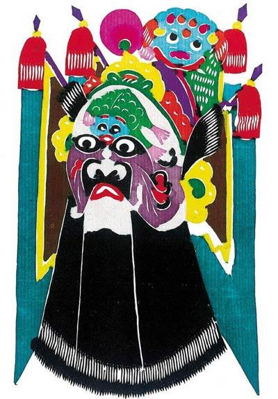 传统脸谱彩色手绘装饰