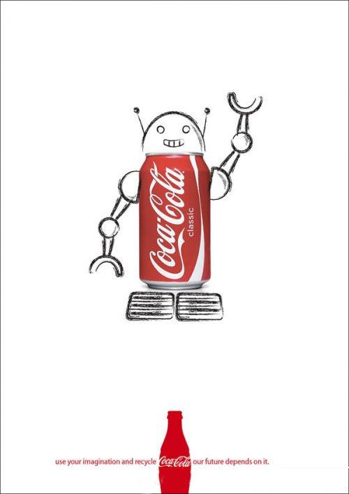 (可口可乐)饮料创意海报招贴设计