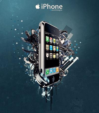 iphone手机海报作品_海报设计欣赏