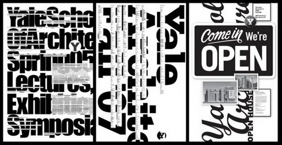 耶鲁大学建筑学院特色海报设计(4)