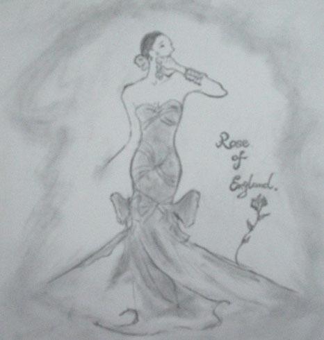 晚礼服配包设计图晚礼服手绘设计图手绘晚礼服装设计图; 晚礼服的设计