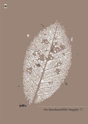 人与自然的海报手绘