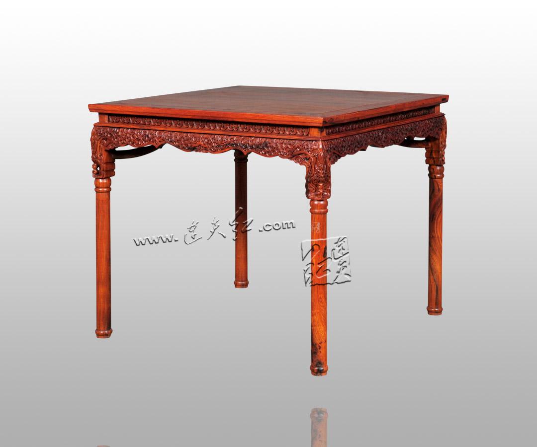 卷草纹长方桌