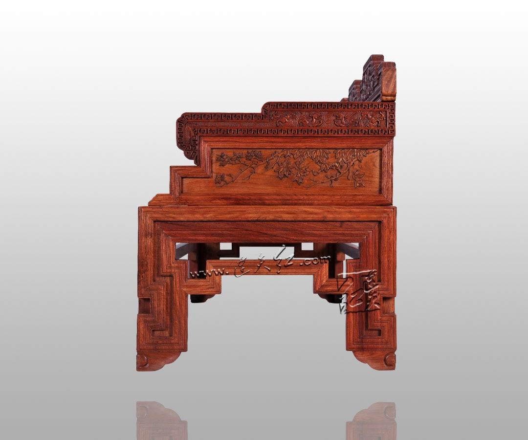 花果图三人椅