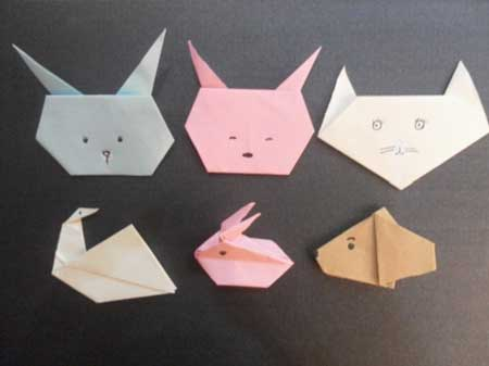 幼儿园手工折纸小动物