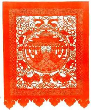 红鲤鱼剪纸画步骤