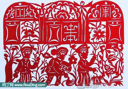 红纸平面雕刻图案大全