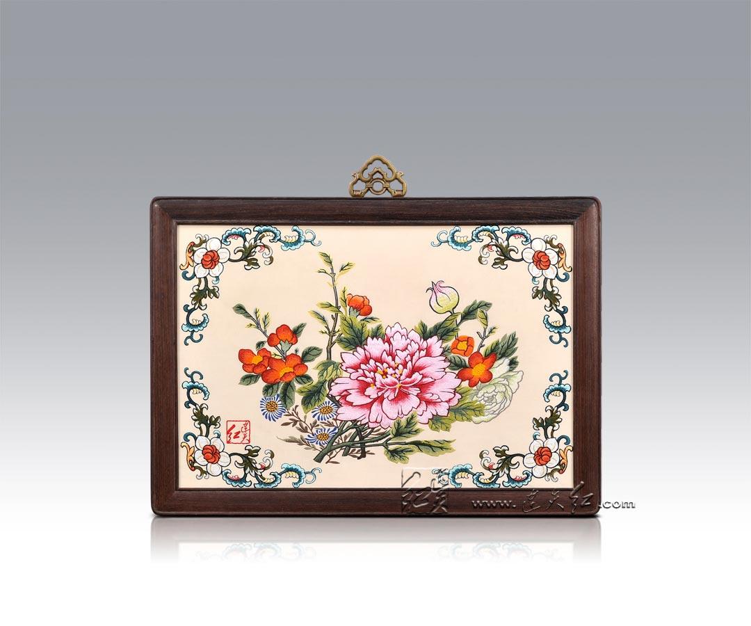 2016中国牡丹刺绣图案素材 精华版图片