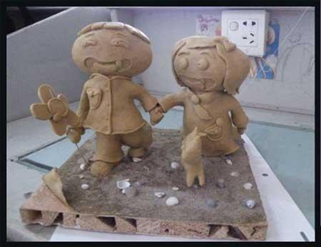 泥塑作品-童年