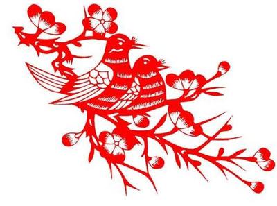 剪纸的方式完成轮廓方面的剪裁,同时可以将纸条花朵等外形都剪裁出来图片