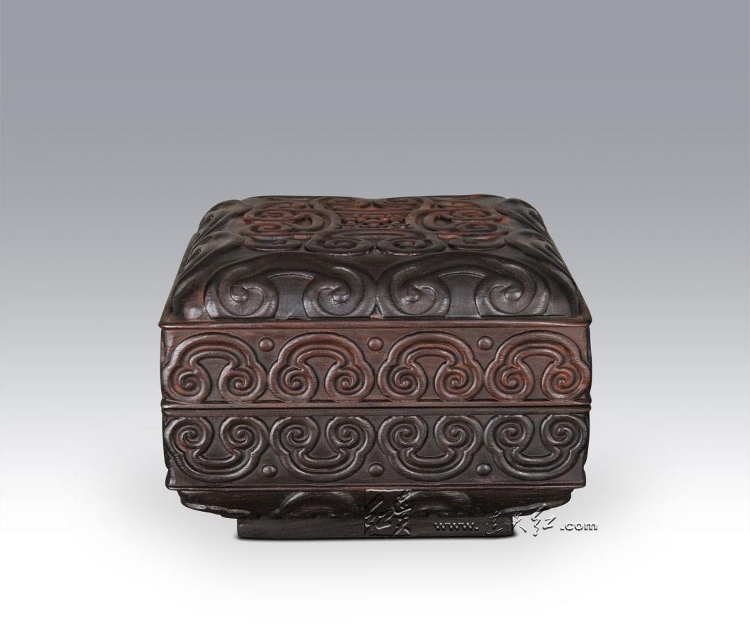 左邻右舍_如意云纹茶叶盒-盒类-连天红(福建)家具有限公司