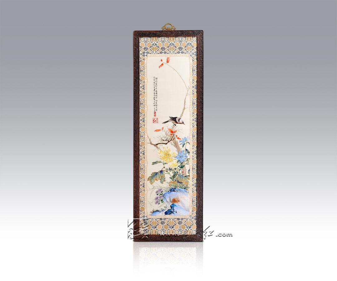 花鸟系列-菊花翠鸟