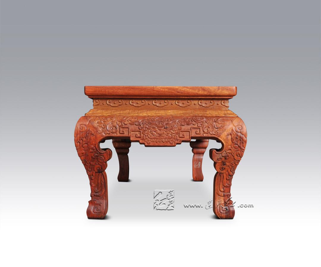龙纹尾凳-卧室系列-连天红(福建)家具有限公司