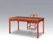 卷草纹餐桌+卷云纹扶手椅二件套