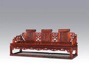 福寿纹矬三人椅