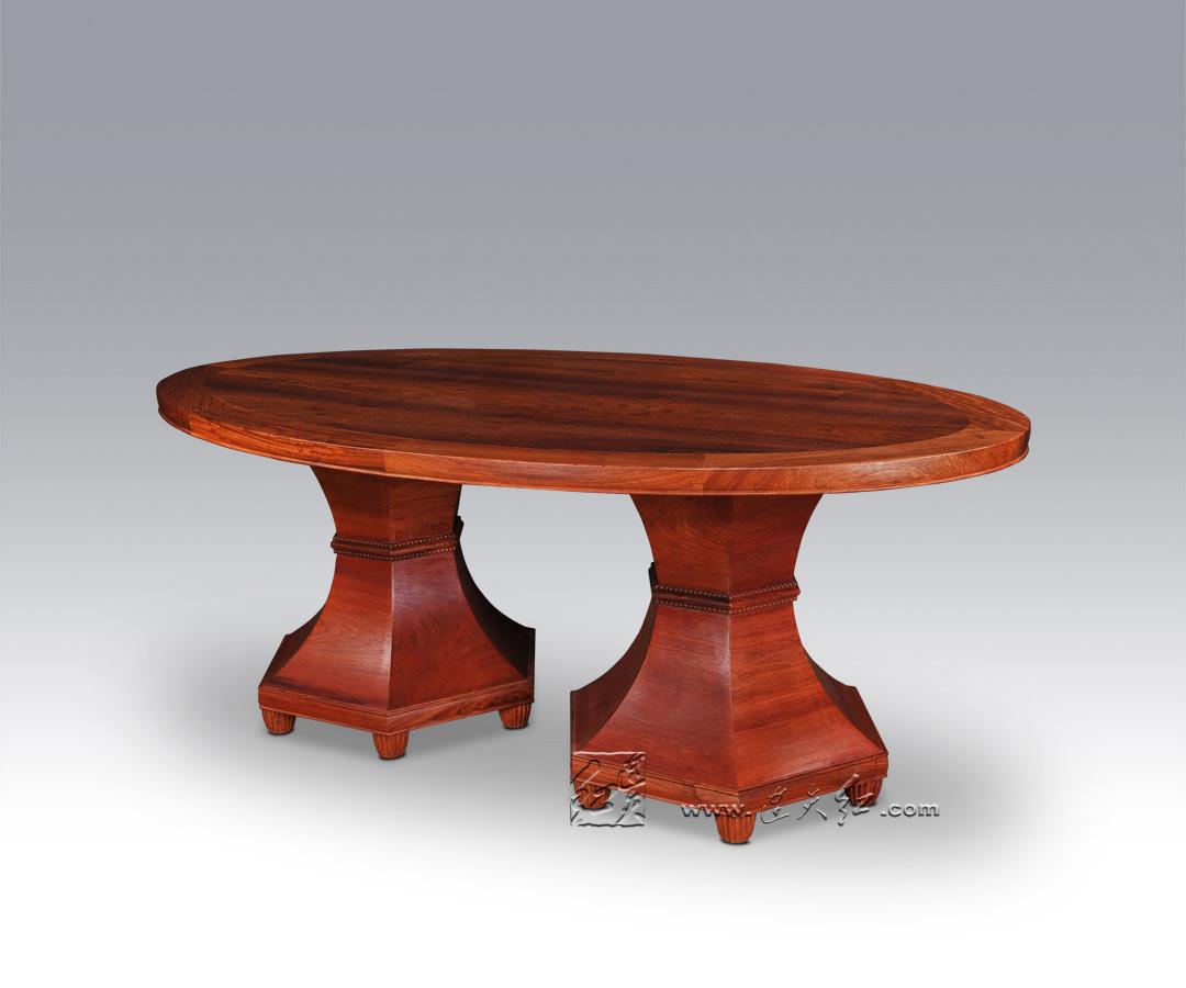 花影椭圆餐桌