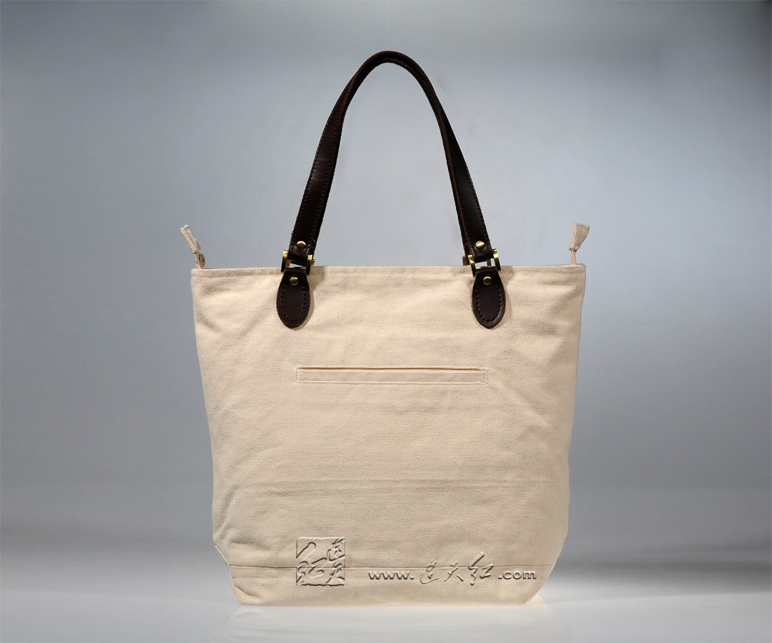 白石-樱桃大容量帆布包