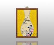 五彩芙蓉鹭鸶花瓶(黄)
