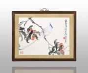 绶带鸟与荔枝