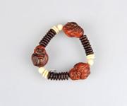 老挝红酸枝捂嘴弥勒手链
